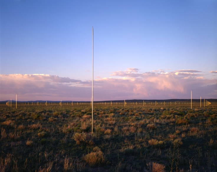 The Lightning Field by Walter De Maria. Photo © Dia Art Foundation