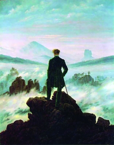 The wanderer above the sea of fog, 1818 Caspar David Friedrich