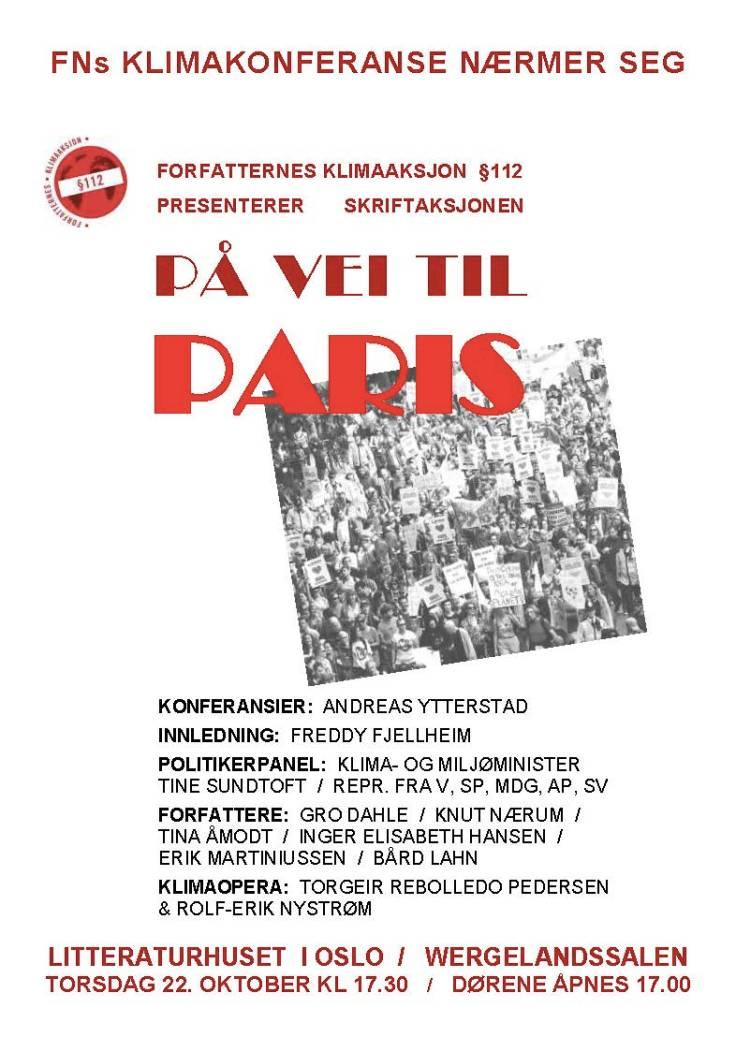 Plakat PåveitilParis 22.okt.